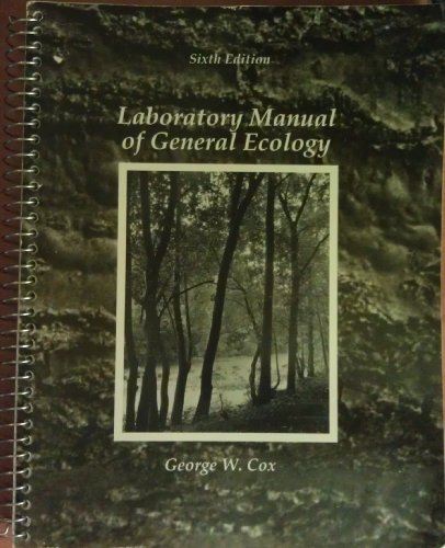 9780697051387: Laboratory Manual of General Ecology