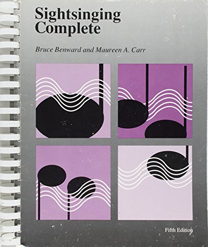 Sightsinging Complete: Bruce Benward, Maureen