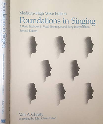 9780697058478: Foundations in Singing (Medium High Voice Edition)
