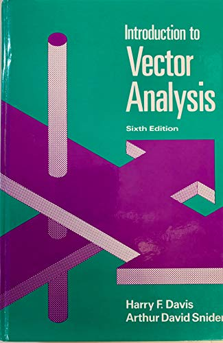 9780697059215: Introduction to Vector Analysis