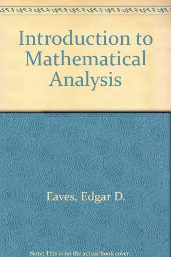 9780697067869: Introductory Mathematical Analysis