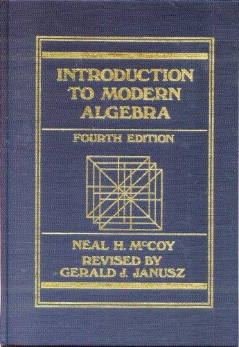 9780697068651: Introduction to Modern Algebra
