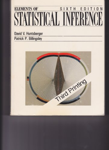 9780697069238: Elements of Statistical Inference