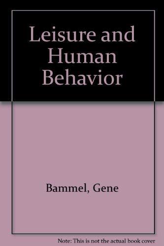 9780697071835: Leisure and Human Behavior