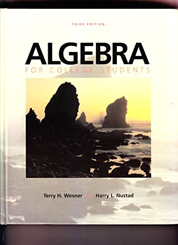 9780697076540: Algebra for College Students