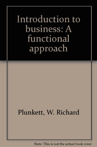 Introduction to Business: A Functional Approach