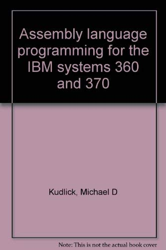 9780697081421: Assembly language programming for the IBM systems 360 and 370