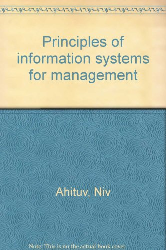 9780697081544: Principles of information systems for management