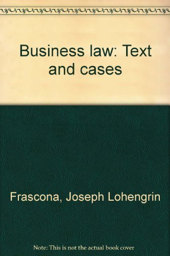 9780697082107: Business law: Text and cases