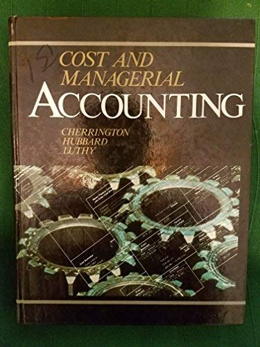 9780697082312: Cost and Managerial Accounting