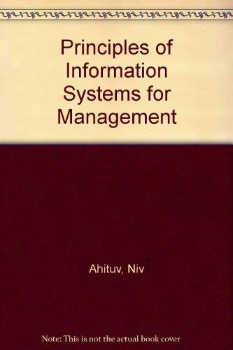 9780697082671: Principles of Information Systems for Management