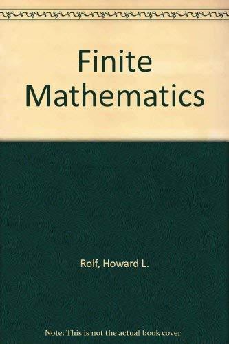 9780697085771: Finite Mathematics
