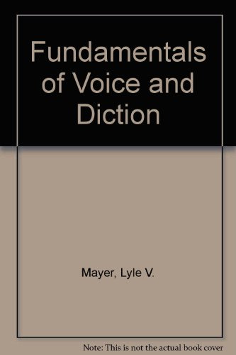 9780697086167: Fundamentals of Voice and Diction