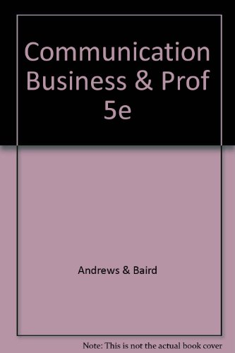 9780697086280: Communication Business & Prof 5e