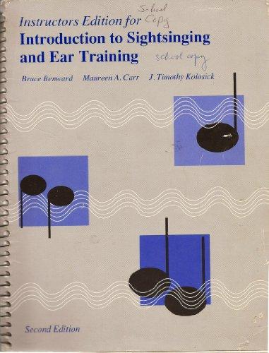Basic Sightsinging Ear Traing 2E I: Benward