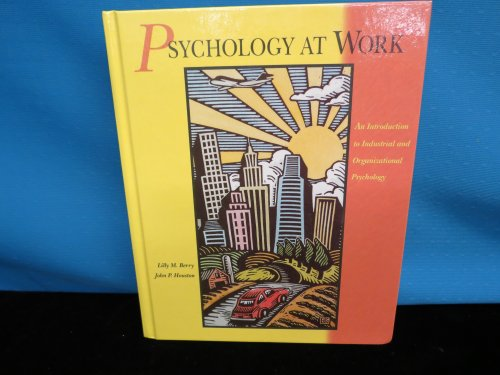 Psychology at Work: Lilly M. Berry,
