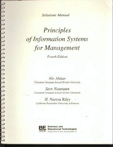 9780697124234: Principles of Information Systems for Management: Test Item File