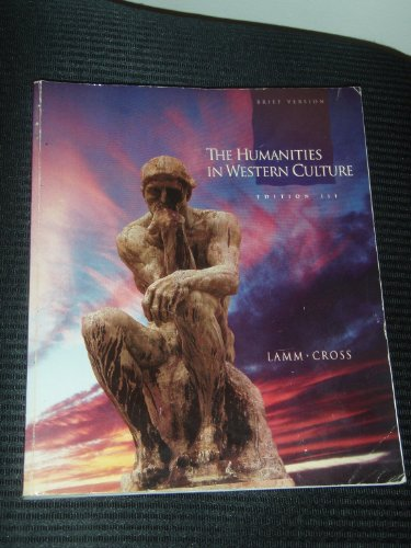 9780697125620: The Humanities in Western Culture: A Search for Human Values