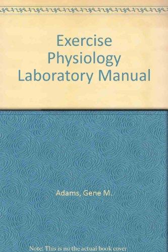 9780697125965: Exercise Physiology: Laboratory Manual