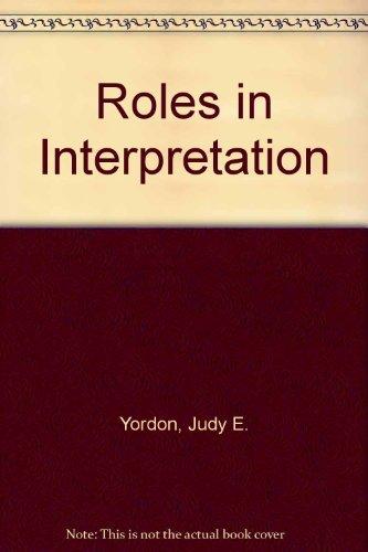 9780697129390: Roles in Interpretation