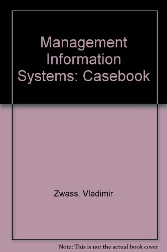 9780697135629: Management Information Systems: Casebook