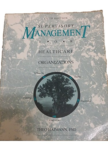 9780697141279: Supervisory Management for Healthcare Organizations