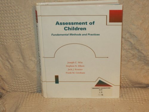9780697172266: Assessment of Children Fundamental Methods and Practices