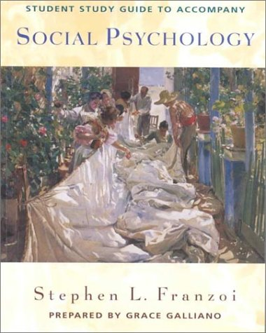 social psychology study guide Social psychology is largely the study of the social situation our social situations create social influence — the process through which other people change our thoughts, feelings, and behaviors and through which we change theirs.