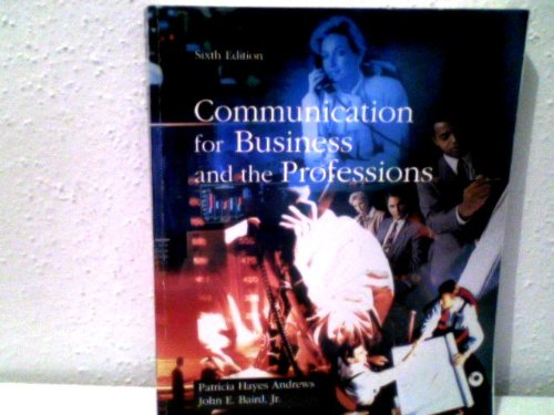 9780697201201: Communication for Business and the Professions