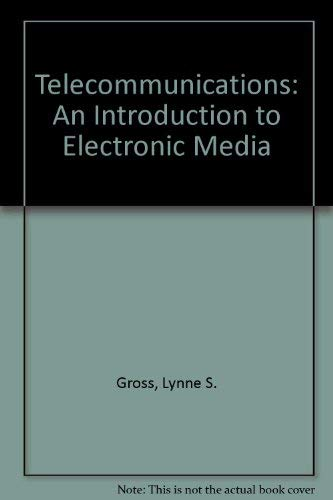 9780697201386: Telecommunications: An Introduction to Electronic Media