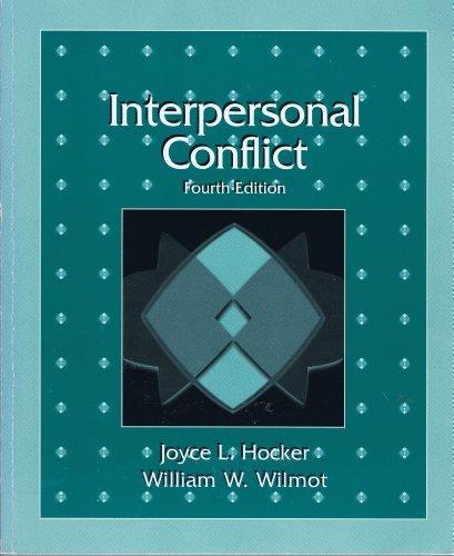 9780697201485: Interpersonal Conflict