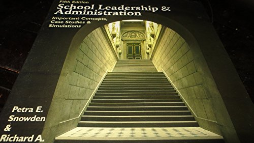 9780697241436: School Leadership and Administration: Important Concepts, Case Studies, and Simulations