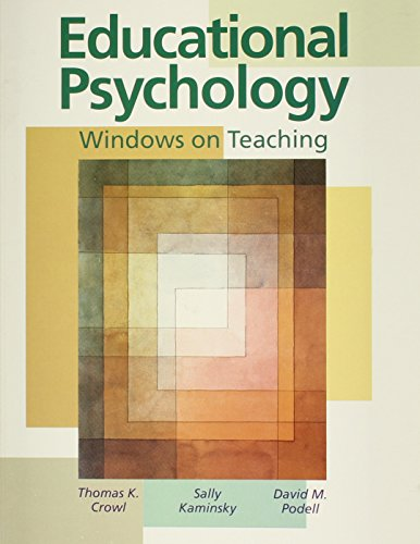 9780697268167: Educational Psychology: Windows on Teaching
