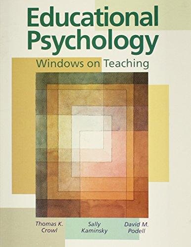 9780697268167: Educational Psychology: Windows on Teaching