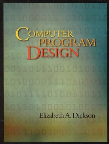 9780697268365: Computer Program Design