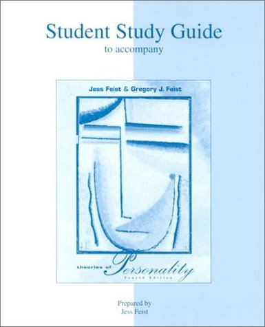 9780697275677: Student Study Guide for use with Theories Of Personality