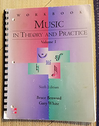 9780697287892: Student Workbook for use with Music In Theory And Practice, Volume 1