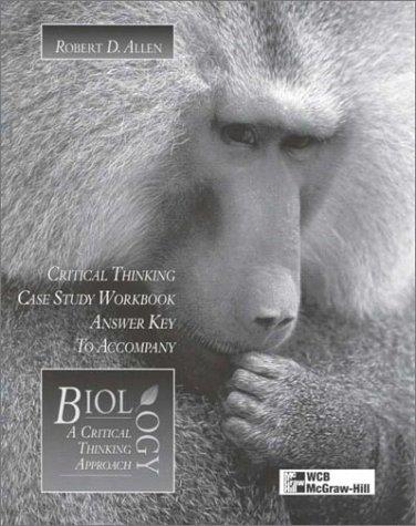 9780697290885: Answer Key Critical Thinking Case Study Workbook to accompany Biology