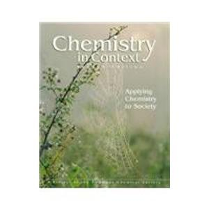 9780697291585: Chemistry in Context: Applying Chemistry to Society