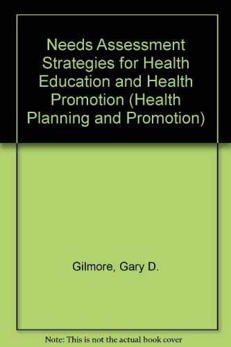 9780697292292: Needs Assessment Strategies for Health Education and Health Promotion (Health Planning and Promotion)