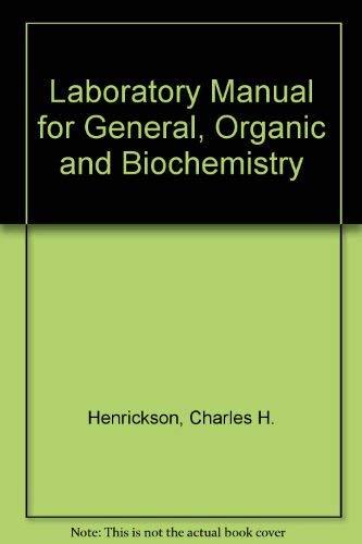 9780697293992: A Laboratory Manual for General, Organic, & Biochemistry