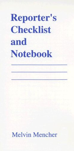 9780697294043: Reporter's Checklist and Notebook