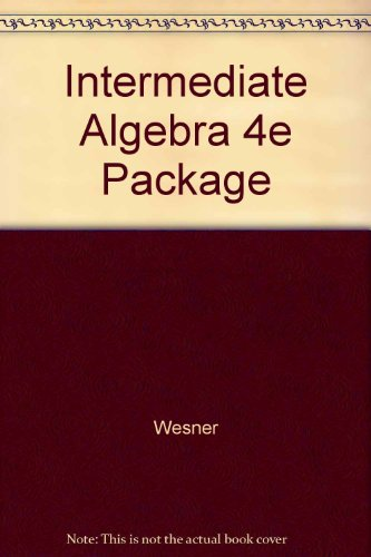 9780697296160: Intermediate Algebra 4e Package
