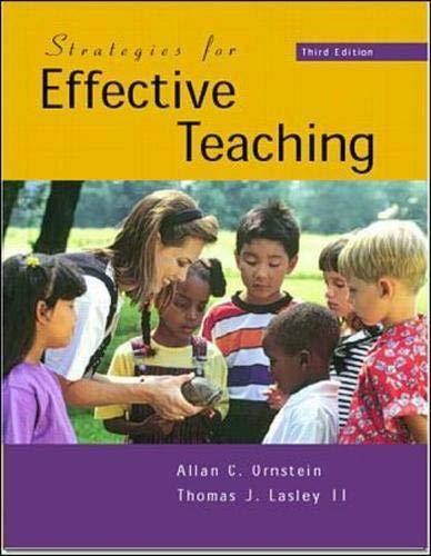Strategies for Effective Teaching: Allan C Ornstein,