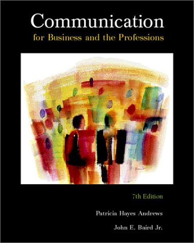 9780697327277: Communication for Business and the Professions, 7th edition