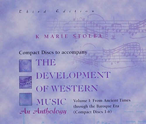 9780697328724: Compact Disk; Vol I for use with The Development Of Western Music