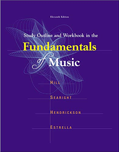 9780697340634: Study Outline and Workbook In The Fundamentals of Music