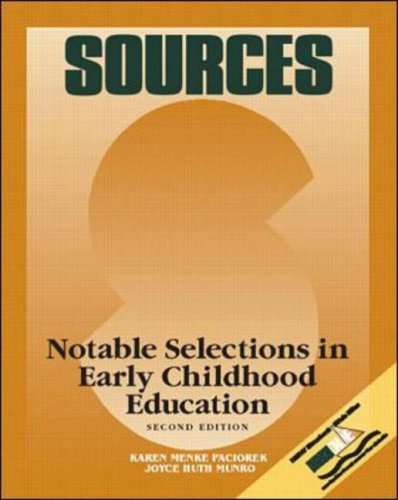 9780697343345: Sources: Notable Selections in Early Childhood Education