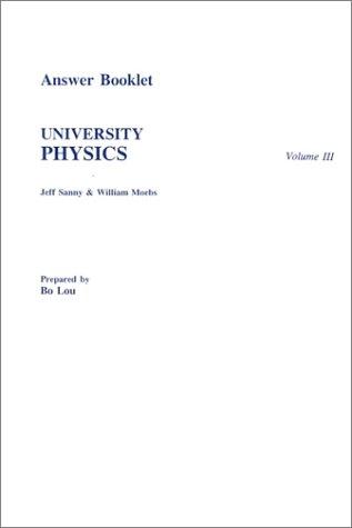 9780697343390: Answer Book to accompany University Physics, Volume III