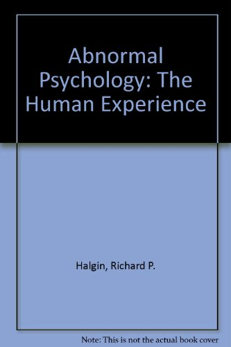 9780697346278: Abnormal Psychology: The Human Experience of Psychological Disorders